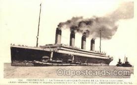 shi042061 - White Star Olympic Ship Postcard Post Card Sister Ship of the Titanic Ship