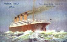 shi042062 - White Star Olympic Ship Postcard Post Card Sister Ship of the Titanic Ship