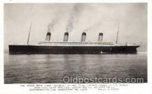shi042066 - White Star Olympic Ship Postcard Post Card Sister Ship of the Titanic Ship