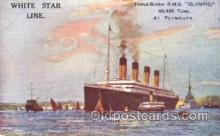 shi042068 - White Star Olympic Ship Postcard Post Card Sister Ship of the Titanic Ship