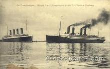 shi042074 - White Star Olympic Ship Postcard Post Card Sister Ship of the Titanic Ship