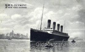 shi042075 - White Star Olympic Ship Postcard Post Card Sister Ship of the Titanic Ship