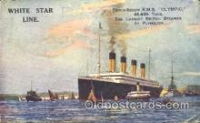 shi042076 - White Star Olympic Ship Postcard Post Card Sister Ship of the Titanic Ship