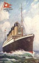 shi042077 - White Star Olympic Ship Postcard Post Card Sister Ship of the Titanic Ship