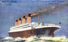 shi042078 - White Star Olympic Ship Postcard Post Card Sister Ship of the Titanic Ship