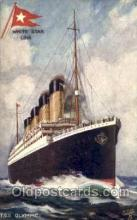 shi042079 - White Star Olympic Ship Postcard Post Card Sister Ship of the Titanic Ship