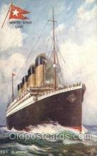 shi042084 - White Star Olympic Ship Postcard Post Card Sister Ship of the Titanic Ship