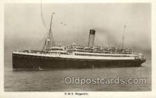 shi042085 - RMS Megantic White Star Line, Ship Postcard Postcards