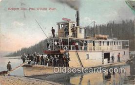 shi045006 - Newport Boat Pend O'Reille River Ship Postcard Post Card