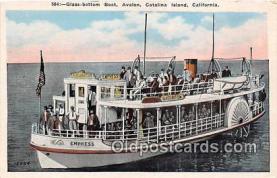 shi045012 - Glass Bottom Boat, Avalon Catalina Island, California Ship Postcard Post Card