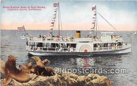 shi045014 - Glass Bottom Boat, Seal Rock Catalina Island, California Ship Postcard Post Card