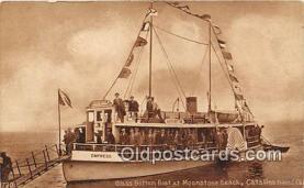 shi045017 - Glass Bottom Boat, Moonstone Beach Catalina Island, California Ship Postcard Post Card