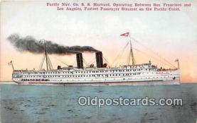 shi045028 - Pacific Nav Co SS Harvard Pacific Coast, San Francisco USA Ship Postcard Post Card