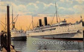 shi045030 - Steamer Harvard San Pedro, Cal USA Ship Postcard Post Card
