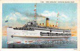 shi045037 - Str Catalina Catalina Island, California USA Ship Postcard Post Card