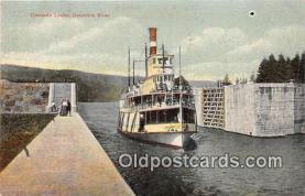 shi045043 - Cascade Locks Columbia River Ship Postcard Post Card