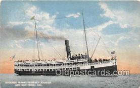 shi045049 - Steamer Plying, Avalon San Pedro, Cal USA Ship Postcard Post Card