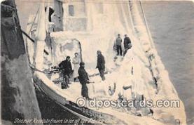 shi045050 - Steamer Resolute Alaska Coast Ship Postcard Post Card