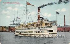shi045052 - Floating Hospital  Ship Postcard Post Card