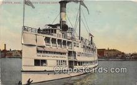 shi045053 - Boston Floating Hospital Boston, Massachusetts USA Ship Postcard Post Card