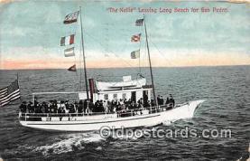 shi045056 - The Nellie San Pedro, Cal USA Ship Postcard Post Card