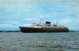 shi045060 - Alaska Ferry MV Malaspina Prince Rupert Harbour Ship Postcard Post Card