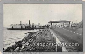shi045061 - San Rafael Ferry Richmond, California USA Ship Postcard Post Card