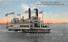 shi045067 - Ferry Boat Ramona San Diego, California USA Ship Postcard Post Card