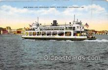 shi045068 - San Diego & Coronado Ferry San Diego, California USA Ship Postcard Post Card