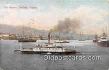 shi045069 - The Harbor Portland, Oregon USA Ship Postcard Post Card