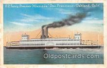 shi045078 - SP Ferry Steamer Alameda Oakland, California USA Ship Postcard Post Card