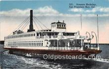 shi045079 - Steamer Berkeley San Francisco Bay, California USA Ship Postcard Post Card