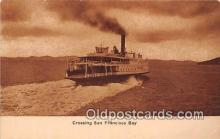 shi045080 - Crossing San Francisco Bay  Ship Postcard Post Card