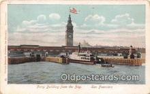 shi045083 - Ferry Building from the Bay San Francisco, CA USA Ship Postcard Post Card