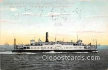 shi045085 - Southern Pacific RR Ferry Boat Piedmont San Francisco Bay, California USA Ship Postcard Post Card