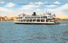 shi045086 - San Diego & Coronado Ferry San Diego, California Ship Postcard Post Card