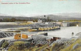 shi045096 - Cascade Locks Columbia River Ship Postcard Post Card