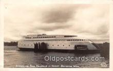 shi045101 - Real Photo - Streamlined Ferry Kalakala Bremerton, Washington USA Ship Postcard Post Card