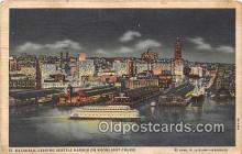 shi045102 - Kalakala Seattle Harbor Ship Postcard Post Card