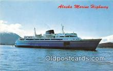 shi045106 - MV Malaspina, MV Taku, MV Matanuska Alaska Marine Highway Ship Postcard Post Card