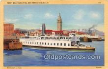 shi045112 - Ferry Boats Leaving San Francisco, CA USA Ship Postcard Post Card