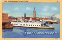 shi045113 - Ferry Boats Leaving San Francisco, CA USA Ship Postcard Post Card