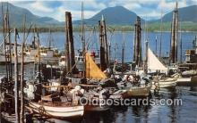 shi045114 - Ketchikan Fishing Fleet Alaska's Southernmost City USA Ship Postcard Post Card