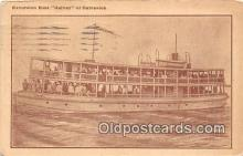 shi045118 - Excursion Boat Galvez Galveston, Texas USA Ship Postcard Post Card