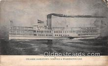 shi045122 - Steamer Jamestown Norfolk & Washington Line Ship Postcard Post Card