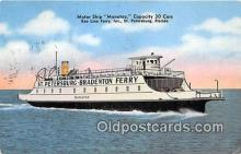 shi045124 - Motor Ship Manatee St Petersburg, Florida USA Ship Postcard Post Card