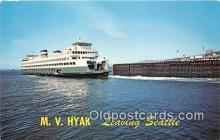 shi045135 - MV Hyak Seattle, Washington USA Ship Postcard Post Card