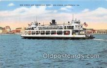 shi045140 - San Diego & Coronado Ferry San Diego, California USA Ship Postcard Post Card