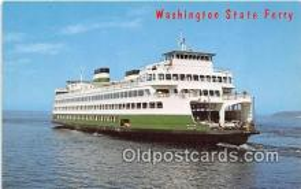 shi045142 - Washington State Ferry, MV Hyak Puget Sound, Washington USA Ship Postcard Post Card