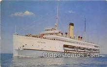 shi045144 - Steamer Catalina Santa Catalina, California USA Ship Postcard Post Card